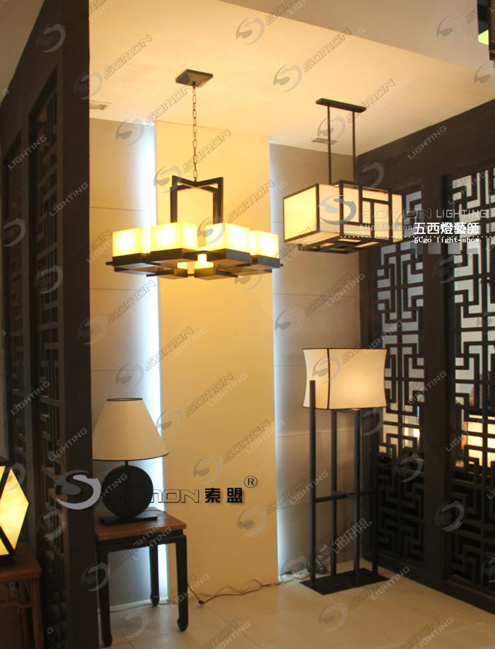 21266883660 新中式吊灯 现代中式别墅会所客厅卧室餐厅